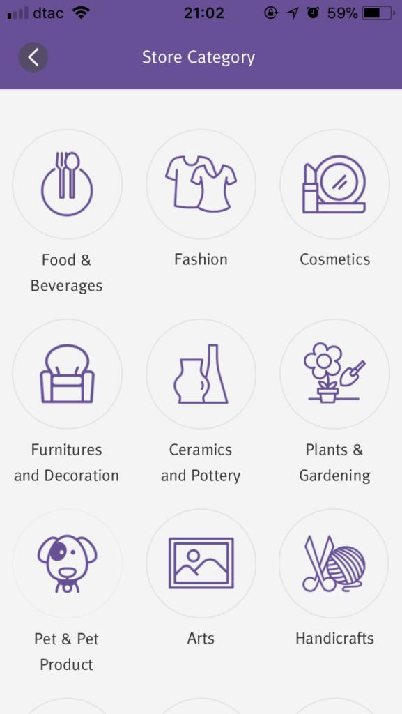 chatchak guide アプリ ショップカテゴリー