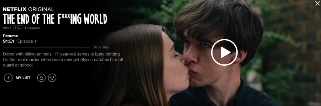 the end of the f *** ing world 予告 netflix おすすめ