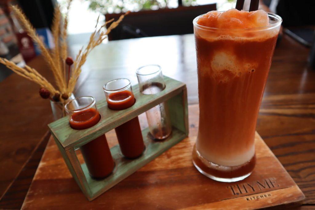 thyme tea signature drink