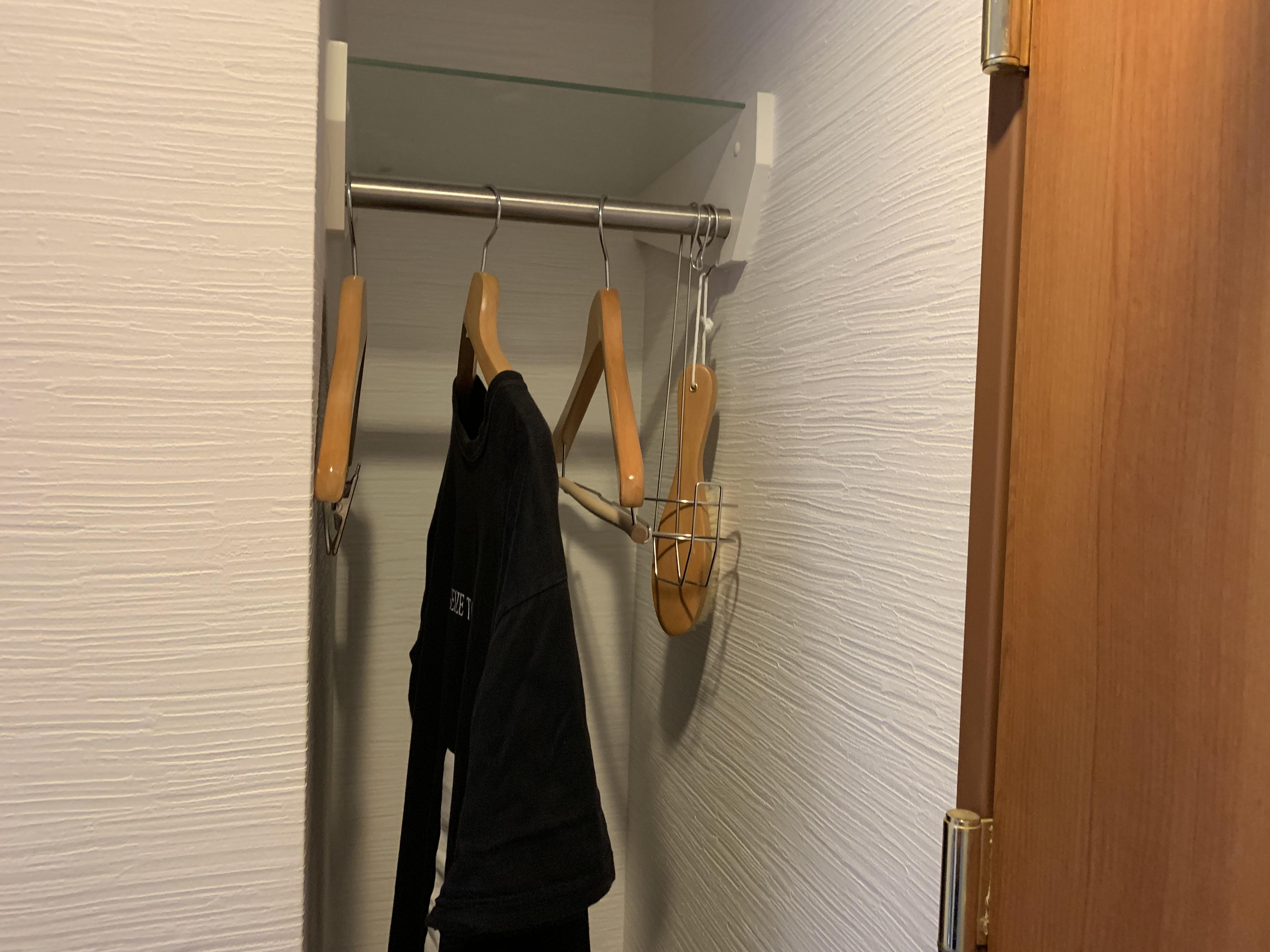 セントラルホテル伊万里 服や荷物を収納するスペース