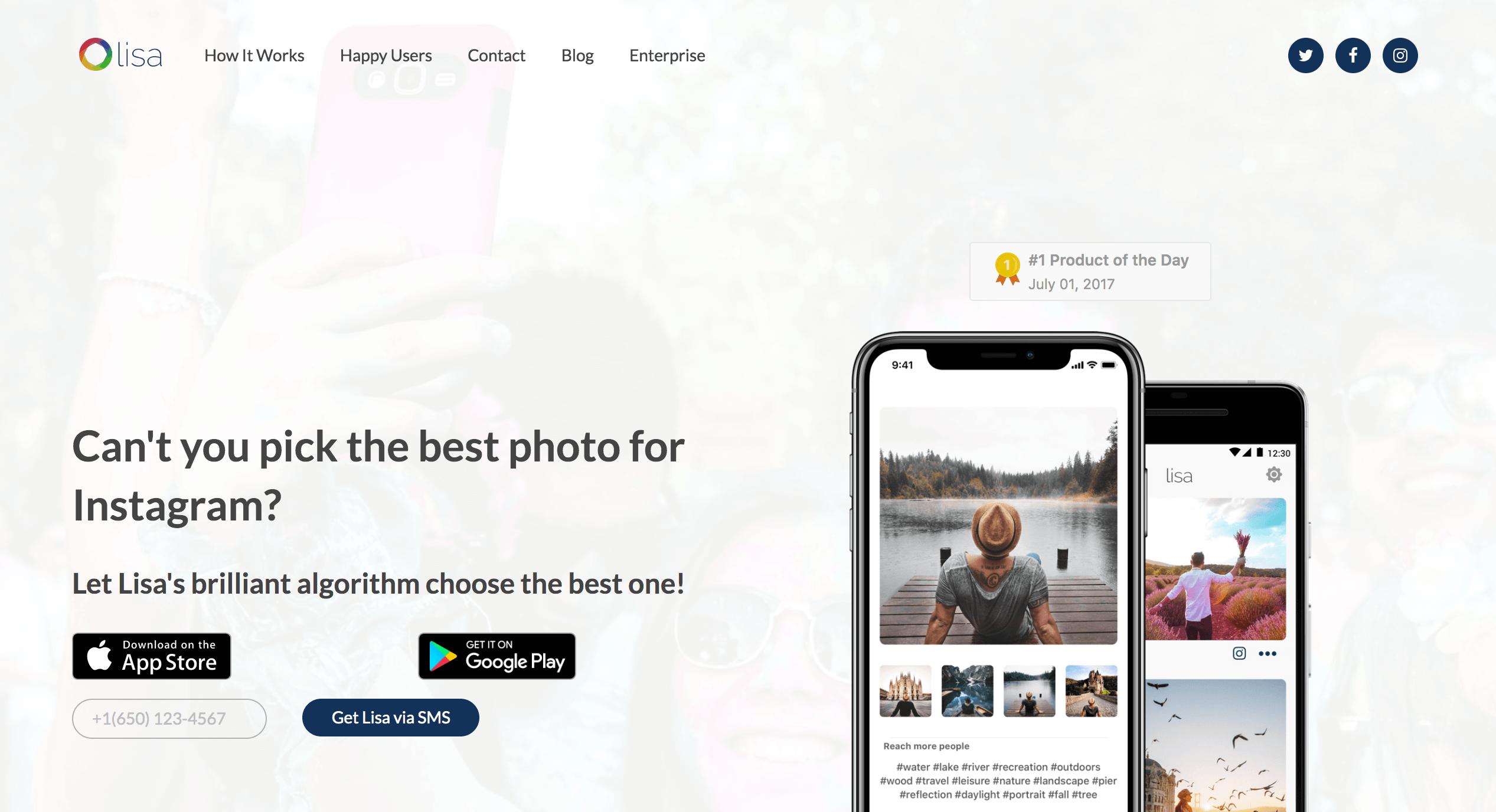 インスタ AIアプリ 「lisa」