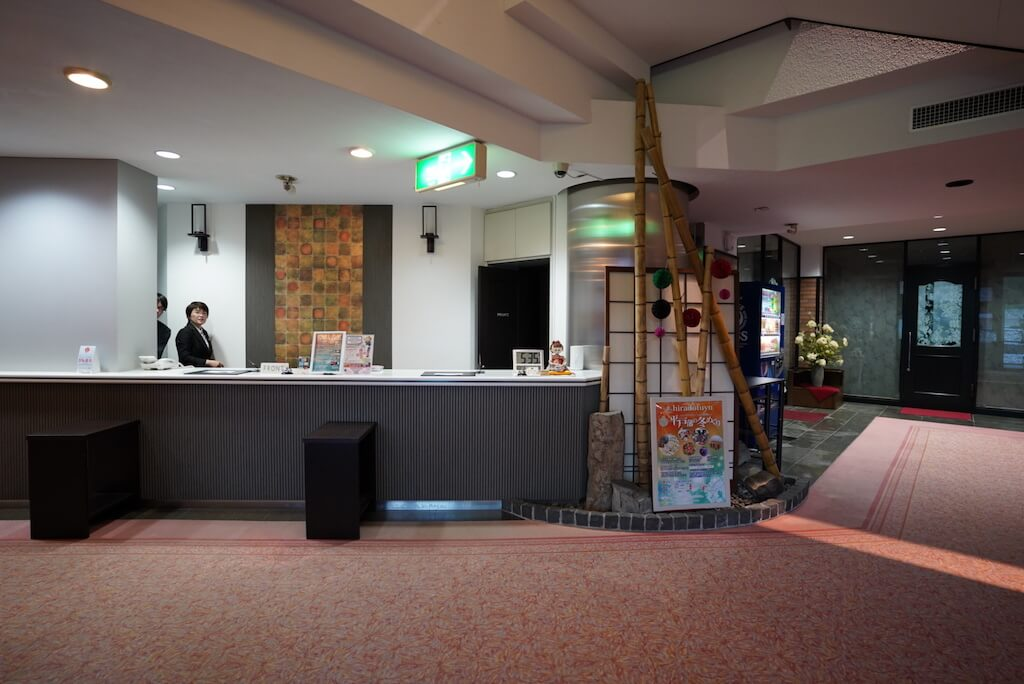 平戸 おすすめホテル ホテル彩陽 受付